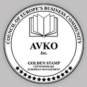 Golden stamp AVKO Czech